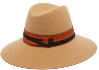 Maison Michel Kate Wool-felt Fedora Hat - Womens - Brown Multi