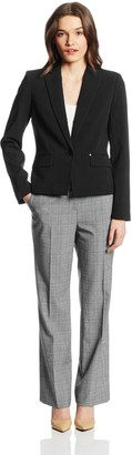 Anne Klein Women's Petite 1 Button Single Breasted Blazer