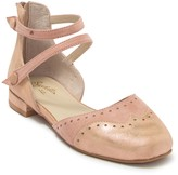 Seychelles Persona Leather & Suede Metallic Ballet Flat