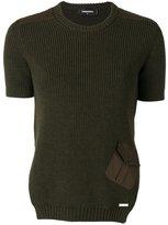 DSQUARED2 rib knit pocket top