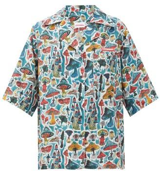 Charles Jeffrey Loverboy Shroom-print Silk-faille Shirt - Multi