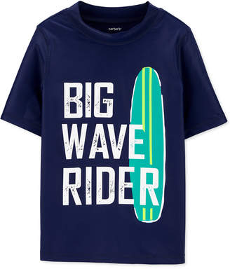 Carter's Carter Little & Big Boys Big Wave Rider Rash Guard