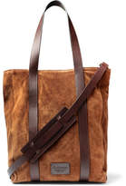 Andersons Anderson's - Leather-trimmed Suede Tote Bag - Tan