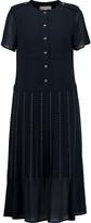 MICHAEL Michael Kors Studded pleated crepe dress