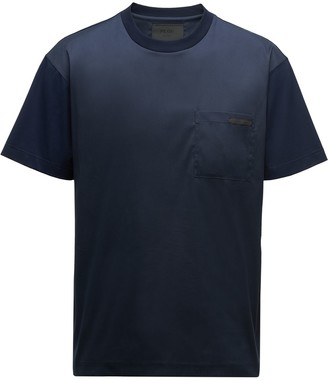 Prada ombre effect logo patch T-shirt