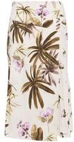 Vince Wrap-effect Floral-print Crepe Skirt