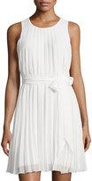 Max Studio Sleeveless Pleated Dress, Ivory