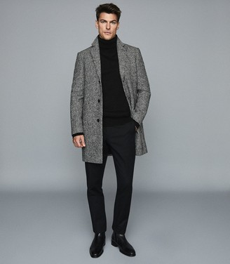 Reiss Ramble - Cashmere Rollneck Jumper in Black