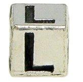 "Olympia Block Letter ""L"" Alphabet Charm - Fits Pandora Bracelets"
