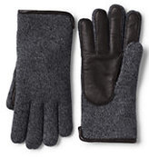 Classic Men's Casual Knit Gloves-Camel Heather Plaid