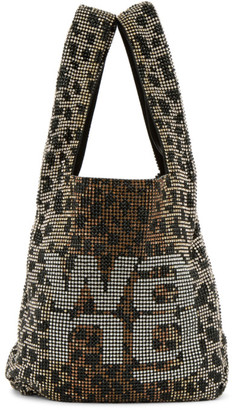Alexander Wang Brown and Beige Mini Leopard WangLoc Tote