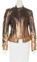 Roberto Cavalli Ombré Leather Jacket