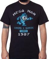 Freeze Men's Mega Man Running and Gunning Since 1987 Vintage T-Shirt XL