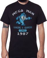 Freeze Men's Mega Man Running and Gunning Since 1987 Vintage T-Shirt XLT