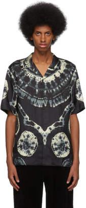 Dries Van Noten Black Tie-Dye Shirt