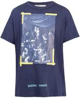 Off-White Caravaggio-print cotton T-shirt