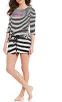 Kate Spade My Cherie Amour Striped Jersey Skort Pajamas