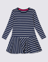 Marks and Spencer Cotton Rich Striped Dress (3 Months - 5 Years)