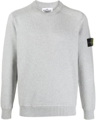 Stone Island Logo Patch Rib-Trimmed Sweatshirt