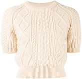 Chanel Pre Owned cable knit jumper