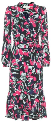 Diane von Furstenberg Carla Two crepe wrap dress