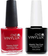 CND Creative Nail Design Vinylux Rouge Red Nail Polish & Top Coat (Two Items), 0.5-oz, from Purebeauty Salon & Spa