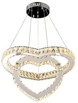 House of Hampton Vasbinder 2 - Light Unique Geometric LED Chandelier