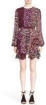 Just Cavalli Women's Print Flutter Hem Dress