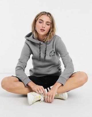 Santa Cruz mfg dot hoodie in heather grey