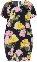 Zizzi Plus Size Polka dot floral print tunic
