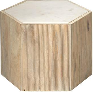 Jamie Young Medium Argon Hexagon Side Table