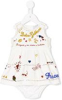 Dolce & Gabbana royal love embroidered dress