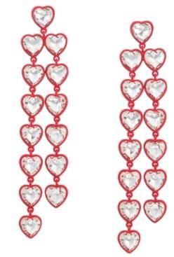 Trifari Heart Chandelier Earrings