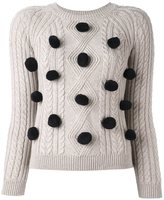 Chinti and Parker 'Aran Pom Pom' jumper