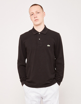 Lacoste Long Sleeve Polo Shirt Black