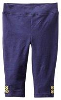 Hartstrings Knit Capri Legging - Light Navy- 2T