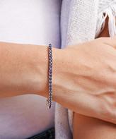 Golden Moon Women's Bracelets Purple - Purple Cubic Zirconia & Silvertone February Tennis Bracelet