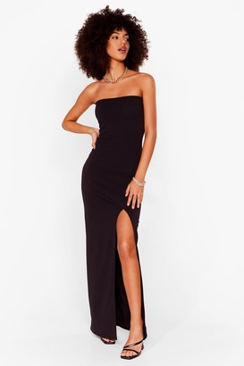 Nasty Gal Womens Slits Official Bandeau Midi Dress - Black