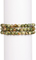 Charlene K Jasper Beaded Stretch Bracelet - Set of 3