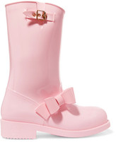 RED Valentino Bow-Embellished Rubber Rain Boots