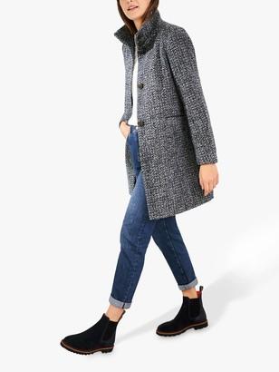 White Stuff Kenley Wool Blend Coat, Dark Navy