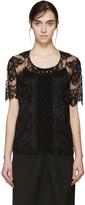 Burberry Black Lace Blouse