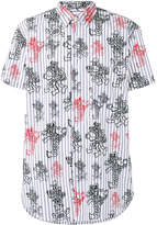 Comme des Garcons printed striped shortsleeved shirt