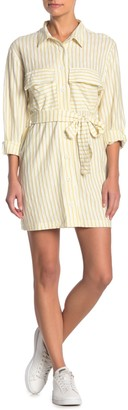 Dee Elly Striped Button-Down Dress