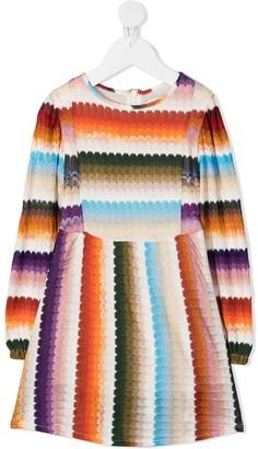 Missoni Kids Knitted Gradient Dress