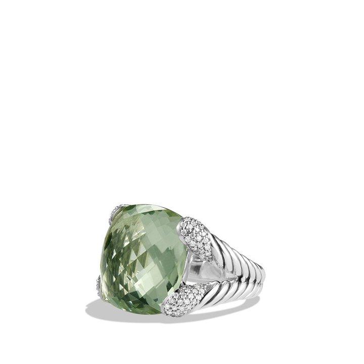 David Yurman Color Cocktail Ring with Prasiolite and Diamonds