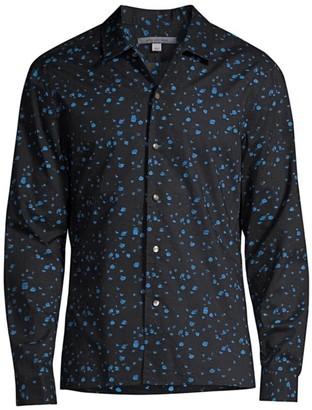 John Varvatos Print Cotton Shirt