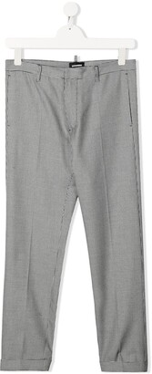 DSQUARED2 TEEN checked smart trousers