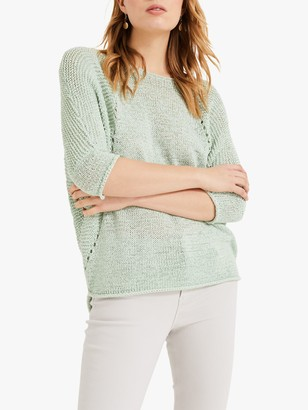 Phase Eight Aideen Tape Yarn Jumper, Sage