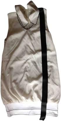Frankie Morello White Silk Dress for Women